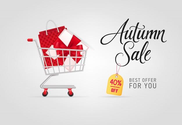 秋の販売、あなたのための最高の提供ショッピングカートでレタリング