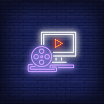 ビデオ制作ネオンサイン