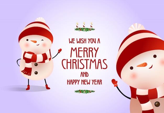 クリスマスと新年のポスターデザイン
