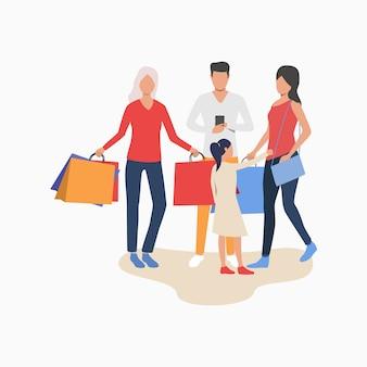 買い物をしている人々