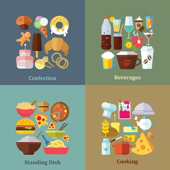 Коллекции продуктов питания фоны