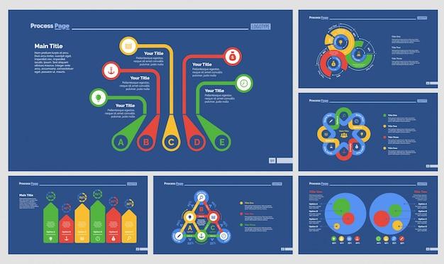 Шесть наборов шаблонов презентационных презентаций
