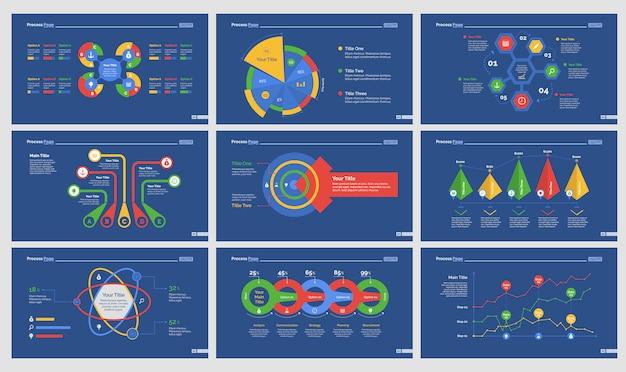 Девять шаблонов слайдов статистики