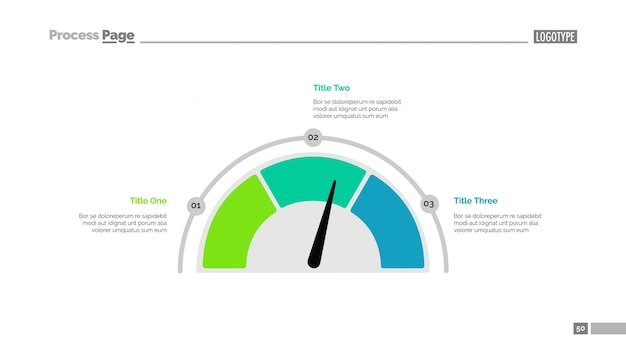 矢印スライドテンプレートによるプロセスチャート