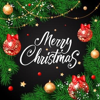 闘牛のメリークリスマス書道