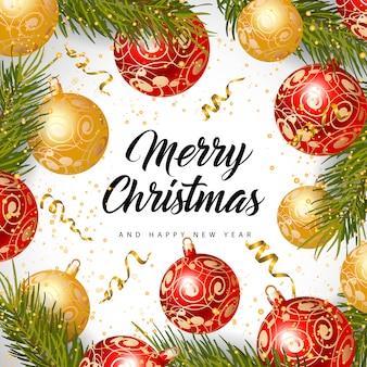 メリークリスマスと新年の碑文