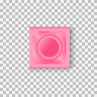 Презерватив в розовой упаковке