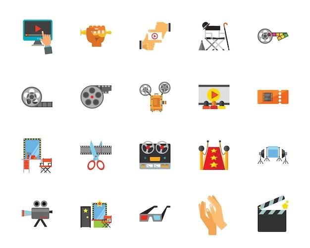 Набор иконок для кинотеатра