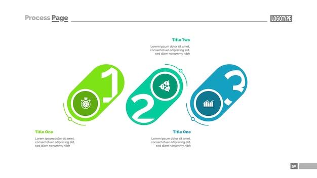 Шаблон слайдов с тремя этапами