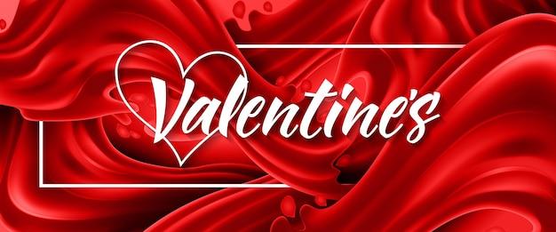 Валентинка на красном фоне