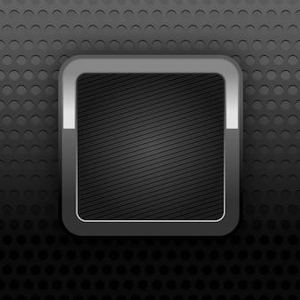 Фоновая перфорация текстуры с металлической кнопкой