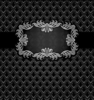Абстрактная металлическая темная рамка