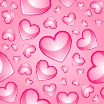 Бесшовный фон с сердечками