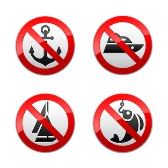 Установите запрещенные знаки - рыбалка