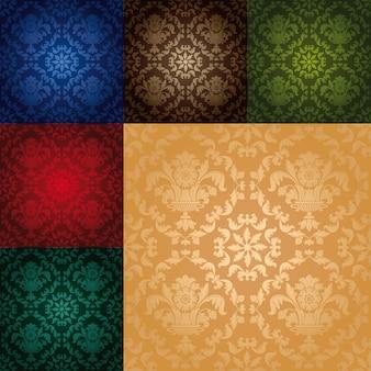 花のシームレスな壁紙パターンを設定します