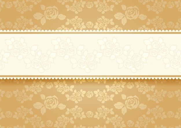 Золотые розы с фоном
