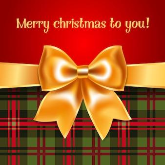 メリークリスマスのグリーティングカード