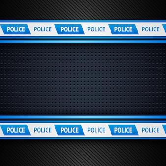 Металлический перфорированный полицейский фон