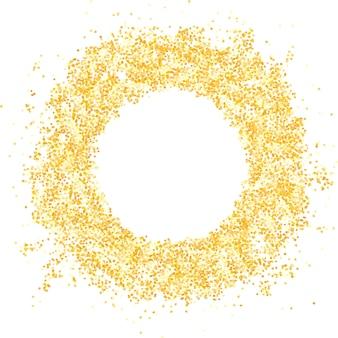 Блестящая круглая круглая рамка с блестками