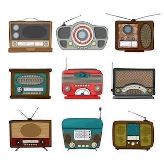 レトロなラジオのアイコン