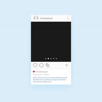 Рамка для фото социальной сети