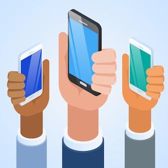 新しいスマートフォンのプレゼンテーション。