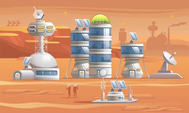 火星の植民地化。