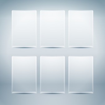 Пустые стеклянные коробки