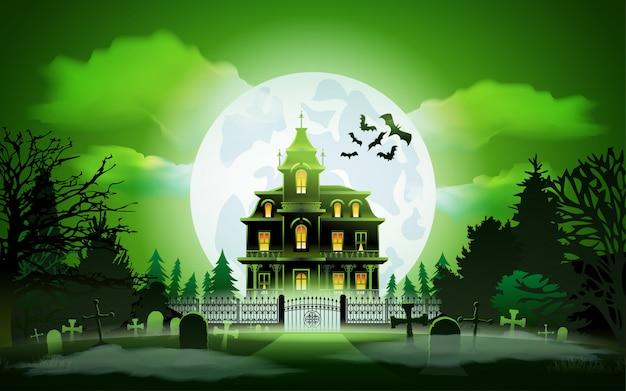 Фон ночь хэллоуина