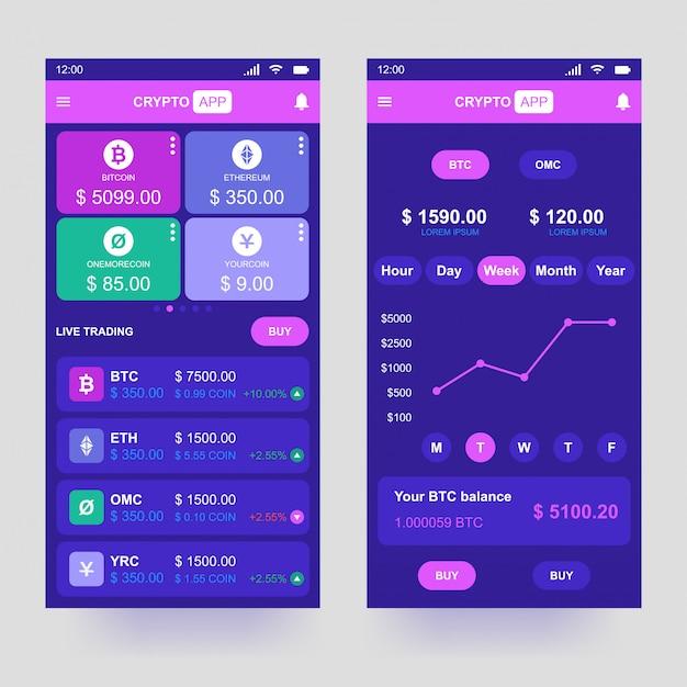 Криптовалютное приложение