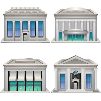 銀行の建物。