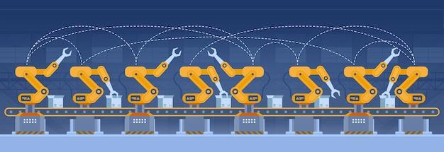 Промышленность, умная фабричная концепция. технологии