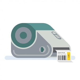 Принтер штрих-кода, принтер этикеток