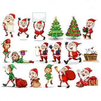 ヴィンテージクリスマスの要素のコレクション
