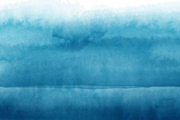 Абстрактные голубые волны акварель ручной росписью дизайн фона