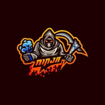 忍者のロゴのベクトル