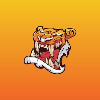 Тигр кибер логотип вектор