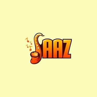 サックスジャズのロゴのベクトル