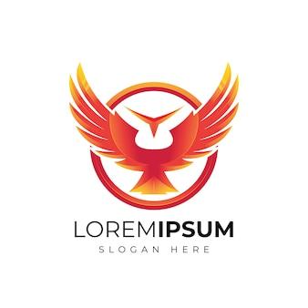 抽象的な翼のロゴデザイン