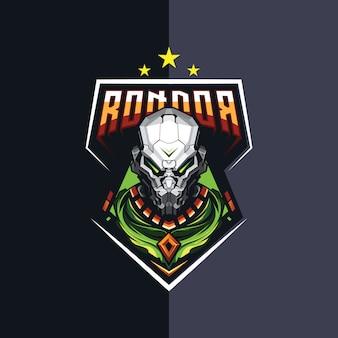 Дизайн логотипа робота киберспорта для игр