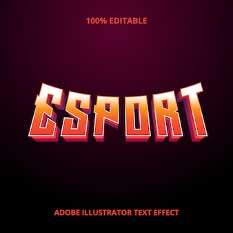Эспорт текст стиль эффект премиум