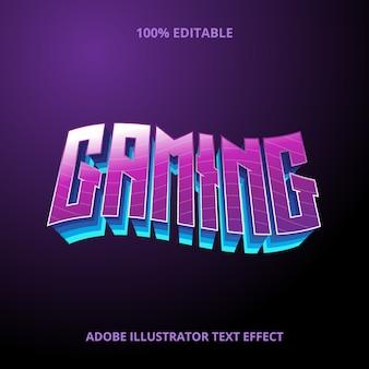 Эффект стиля игрового текста премиум