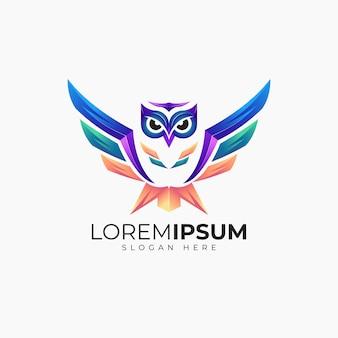 Высокий сова логотип дизайн шаблона для бизнеса