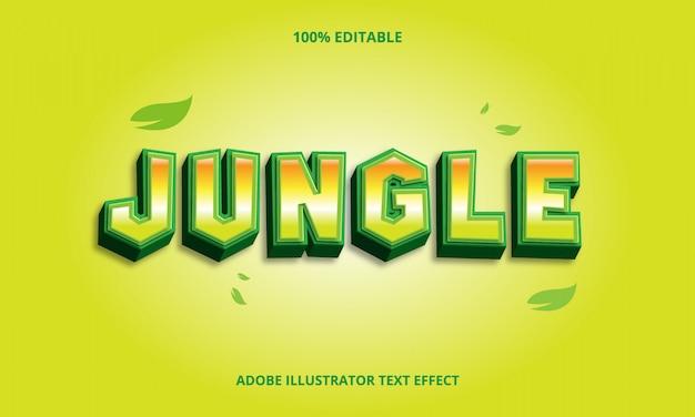 Редактируемый текстовый эффект джунглей
