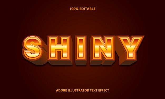 Золотой блестящий текст, редактируемый эффект шрифта