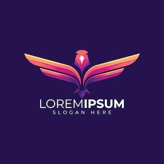 Абстрактный орел дизайн логотипа