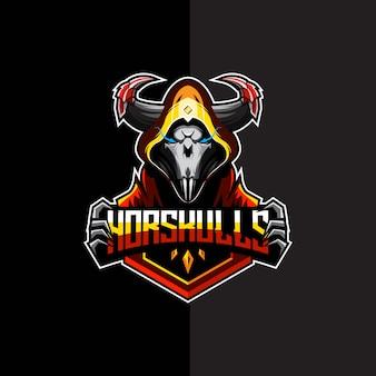 Шаблон логотипа черепа