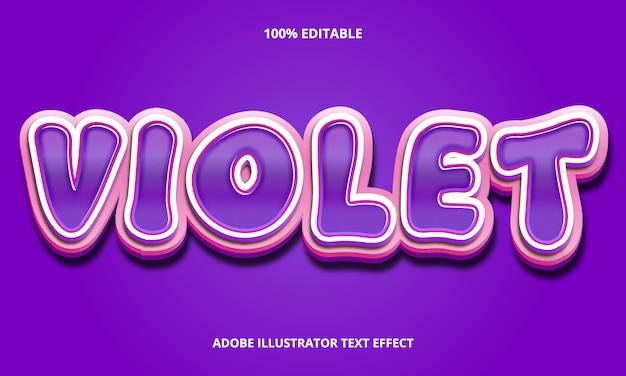 Редактируемый текстовый эффект - фиолетовый стиль заголовка