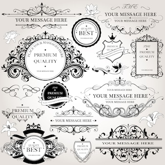 Коллекция декоративных логотипов