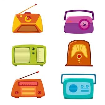 分離されたビンテージラジオ